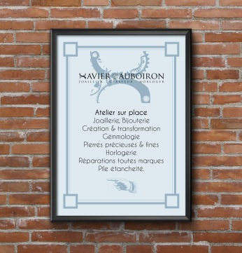 Affiche information Xavier Auboiron - Bijoutier joaillier