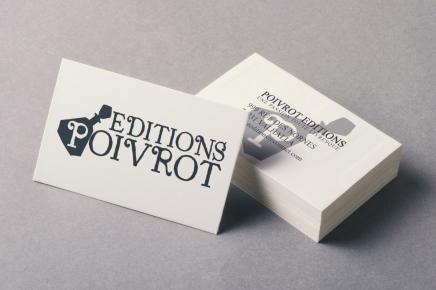 visuels carte de visites pour Editions poivrot