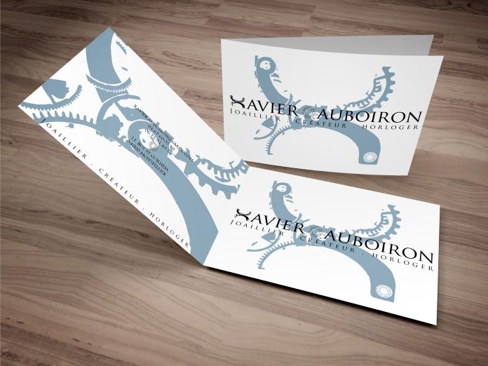 visuels carte de visites pour Xavier Auboiron