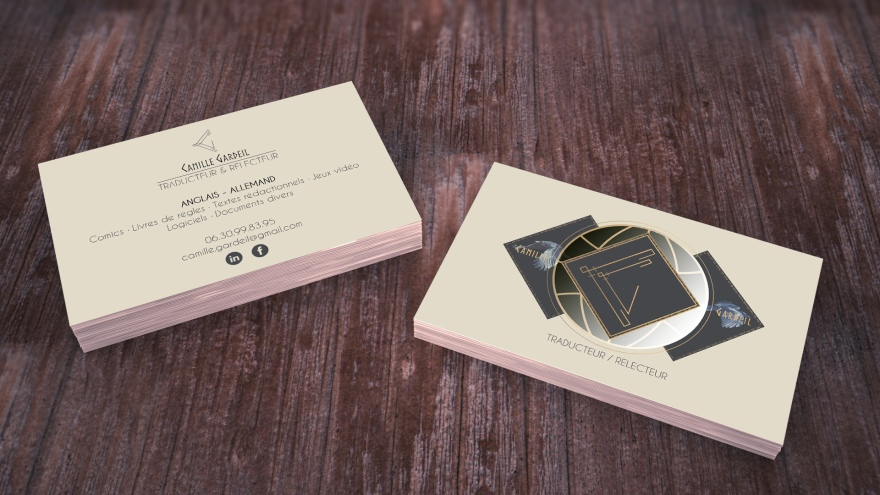 business card camille