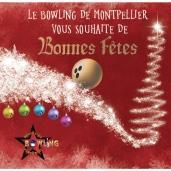 Affiche promotionnelle - fêtes de fin d'années - Bowling de Montpellier